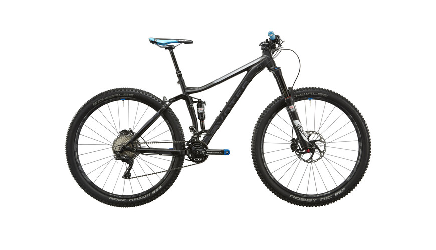 "VOTEC VX Elite Touren/Trail Fullsuspension Heldämpad MTB 29"" grå/svart"